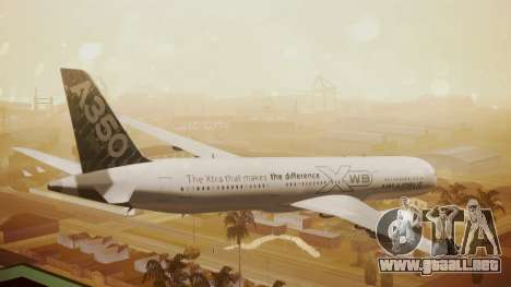 Airbus 350-900XWB Around The World para GTA San Andreas left