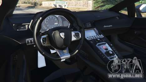GTA 5 Lamborghini Aventador LP700-4 Police v4.0 vista lateral derecha