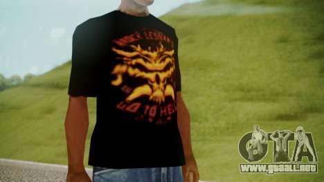 Brock Lesnar Shirt v1 para GTA San Andreas segunda pantalla