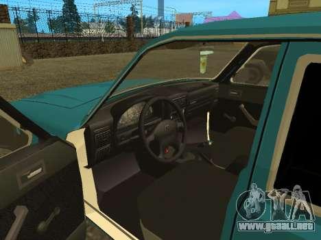 GAS 3102 Volga para GTA San Andreas vista hacia atrás