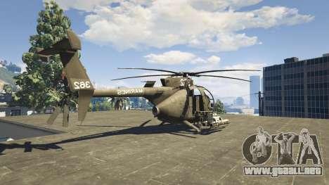 GTA 5 MH-6/AH-6 Little Bird Marine cuarto captura de pantalla