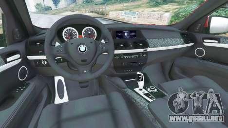 GTA 5 BMW X6 M (E71) vista lateral trasera derecha