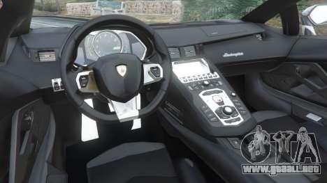 GTA 5 Lamborghini Aventador LP700-4 Police v4.5 vista lateral derecha