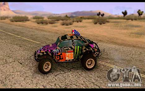 VW Baja Buggy Gymkhana 6 para GTA San Andreas left