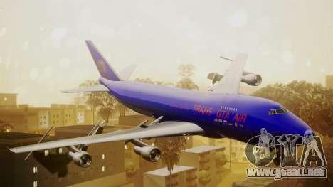 Boeing 747-200 Trans GTA Air para GTA San Andreas