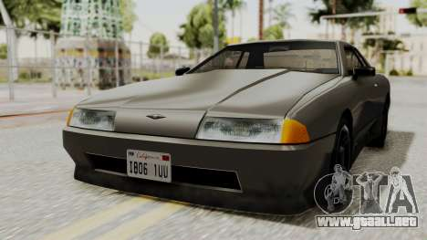 Elegy The Gold Car 1 para GTA San Andreas vista posterior izquierda