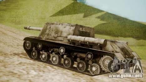 ISU-152 Snow from World of Tanks para GTA San Andreas left