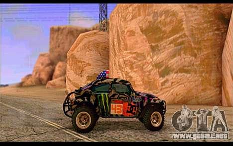 VW Baja Buggy Gymkhana 6 para GTA San Andreas vista posterior izquierda