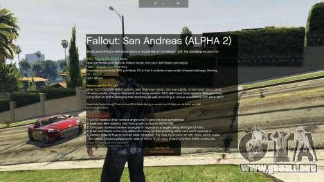 GTA 5 Fallout: San Andreas [.NET] ALPHA 2 segunda captura de pantalla