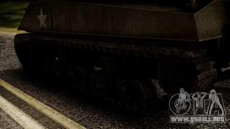 M4A3 Sherman para GTA San Andreas vista posterior izquierda
