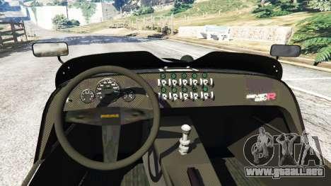 GTA 5 Caterham Super Seven 620R v1.5 [black] vista lateral trasera derecha