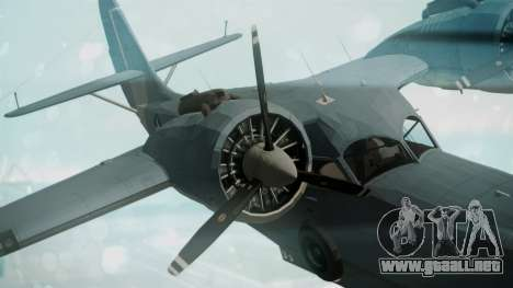 Grumman G-21 Goose Military para la visión correcta GTA San Andreas