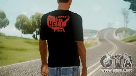 Brock Lesnar Shirt v1 para GTA San Andreas tercera pantalla