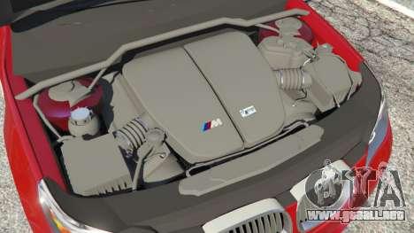 GTA 5 BMW M5 (E60) 2006 vista lateral trasera derecha