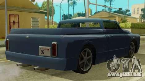 Kounts Pickup PaintJob para GTA San Andreas vista posterior izquierda