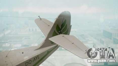 Grumman G-21 Goose DQAYL para GTA San Andreas vista posterior izquierda