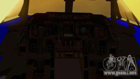 Boeing 747-200 Trans GTA Air para GTA San Andreas vista hacia atrás