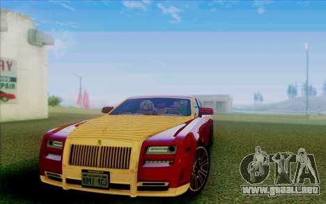 Rolls-Royce Ghost Mansory para vista lateral GTA San Andreas