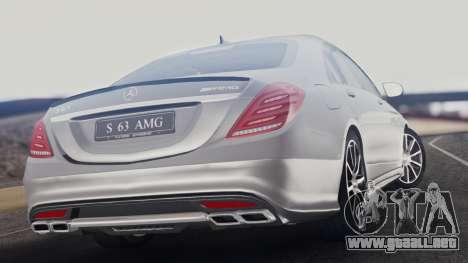 Mercedes-Benz W222 S63 AMG para GTA San Andreas left