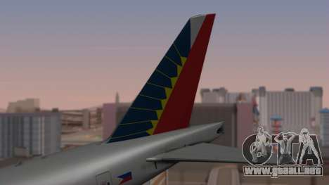 Boeing 777-200LR Philippine Airlines para GTA San Andreas vista posterior izquierda