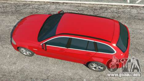 GTA 5 BMW 525d (F11) Touring 2015 (UK) vista trasera