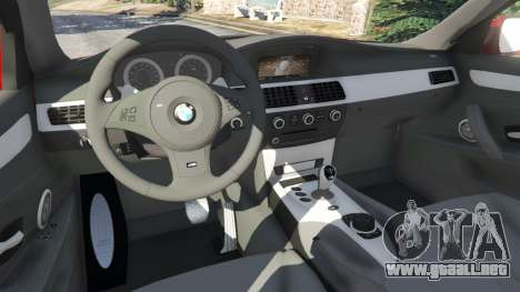 GTA 5 BMW M5 (E60) 2006 vista lateral derecha