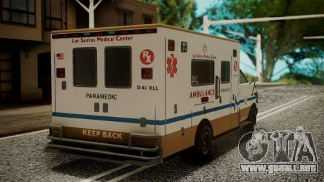 GTA 5 Brute Ambulance IVF para GTA San Andreas left