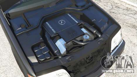 GTA 5 Mercedes-Benz S600 (W140) vista lateral trasera derecha