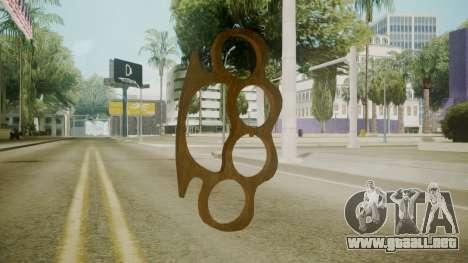 Atmosphere Brass Knuckles v4.3 para GTA San Andreas segunda pantalla