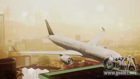 Airbus 350-900XWB Around The World para GTA San Andreas