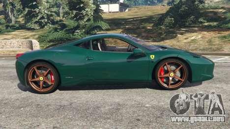 GTA 5 Ferrari 458 Italia 2009 v1.5 vista lateral izquierda