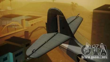 Grumman G-21A Goose para GTA San Andreas vista posterior izquierda