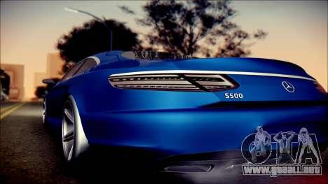 Mercedes-Benz S Coupe Vossen cv5 2014 para GTA San Andreas vista posterior izquierda