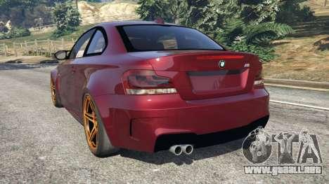 GTA 5 BMW 1M v1.3 vista lateral izquierda trasera