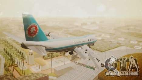Boeing 747-100 All Nippon Airways para GTA San Andreas left