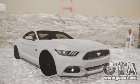 Ford Mustang GT 2015 Stock para GTA San Andreas left