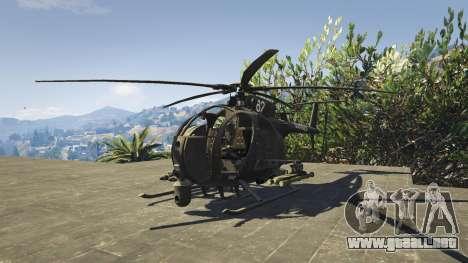 GTA 5 MH-6/AH-6 Little Bird Marine segunda captura de pantalla