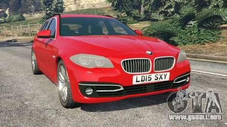 BMW 525d (F11) Touring 2015 (UK) para GTA 5