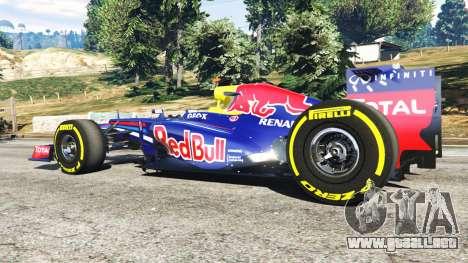 GTA 5 Red Bull RB8 [Sebastian Vettel] vista lateral trasera derecha