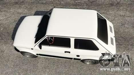 GTA 5 Fiat 126p v0.5 vista trasera