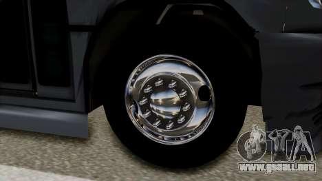 Marcopolo Boxer Ammosa para GTA San Andreas vista posterior izquierda