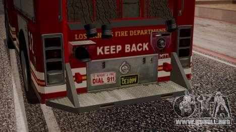 GTA 5 MTL Firetruck IVF para la vista superior GTA San Andreas