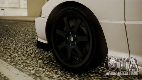 Honda Integra R Spoon para GTA San Andreas vista posterior izquierda