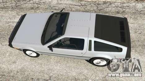 GTA 5 DeLorean DMC-12 vista trasera