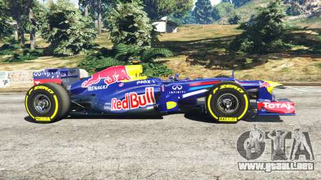 GTA 5 Red Bull RB8 [Sebastian Vettel] vista lateral izquierda