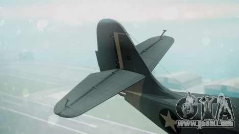 Grumman G-21 Goose Military para GTA San Andreas vista posterior izquierda