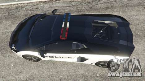 GTA 5 Lamborghini Aventador LP700-4 Police v4.0 vista trasera