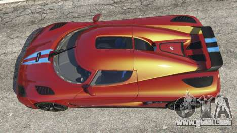 GTA 5 Koenigsegg Agera v0.8.5 [Early Beta] vista trasera
