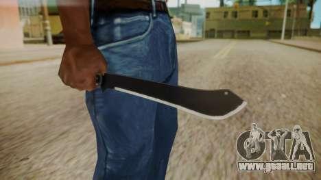 GTA 5 Machete (From Lowider DLC) para GTA San Andreas tercera pantalla