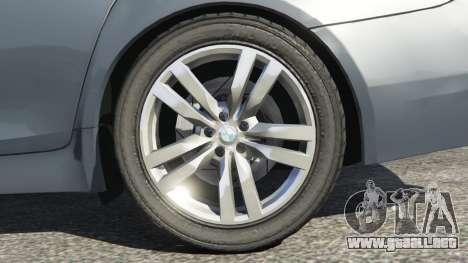 GTA 5 BMW 525d (F11) Touring 2015 (US) vista lateral trasera derecha